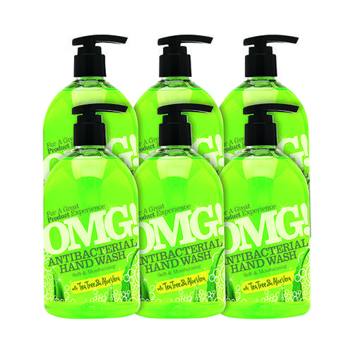 OMG Antibacterial Hand Soap 500ml (Pack of 6) 0604398