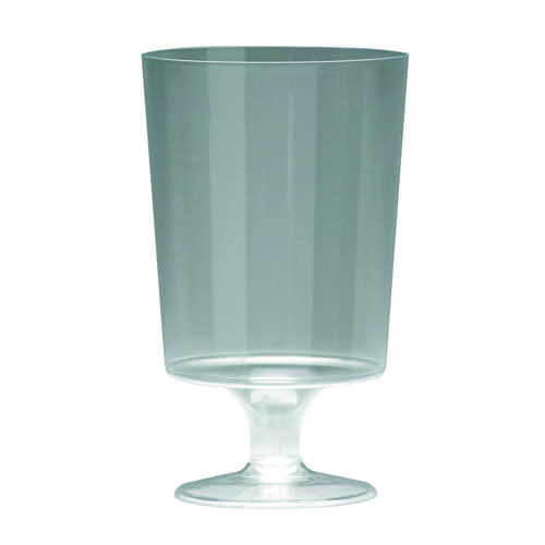 Plastic Stem Wine Glass Clear Pk25