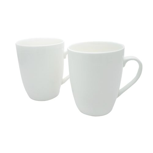 White 12oz Squat Mugs Pk12