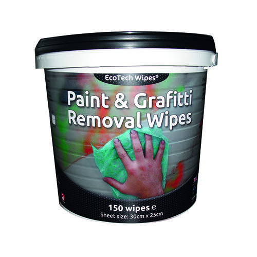EcoTech Paint + Graffiti Wipes Tub 150