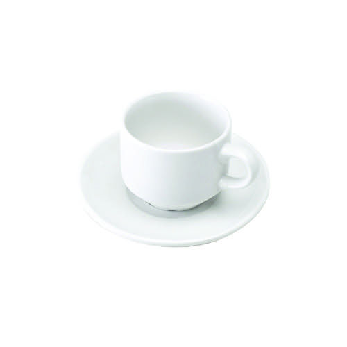 White Cup and Saucer Pk6