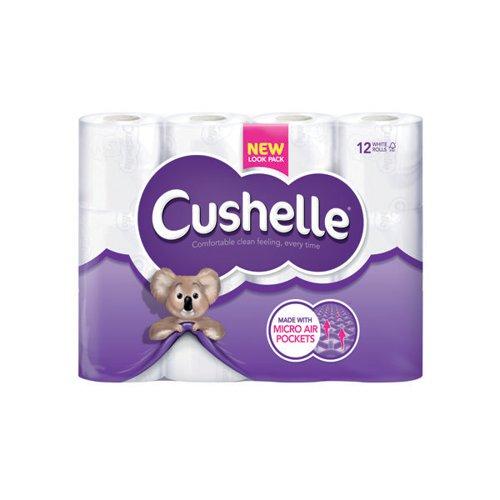 Cushelle Toilet Roll White (Pack of 12) 1102089