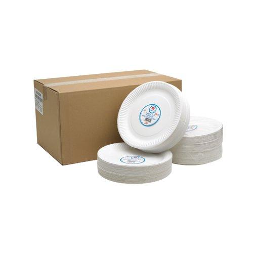 White 9 Inch Paper Plate Pk100