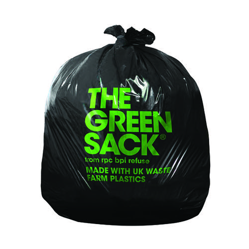 The Grn Sack H/D Black Refuse Sack Pk200
