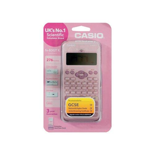 Casio Scientific Calculator Twin-Powered Pink FX-83GTX-DP (Pink)