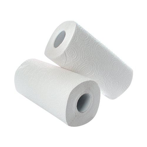 2Work Kitchen Roll (Pack of 2) x12 White KR0024