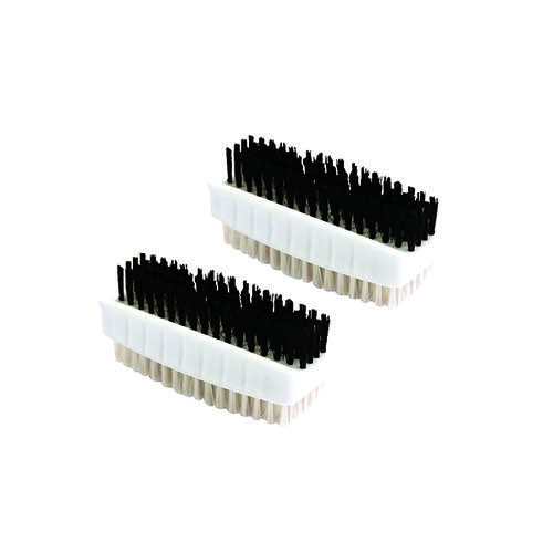 Plastic Nail Brush White (Pack of 2) CL.190/2