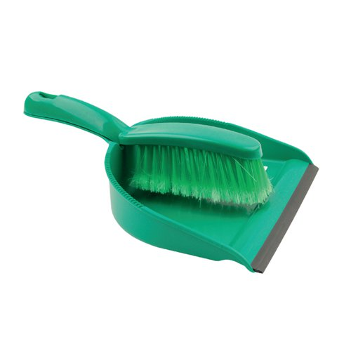 Green Dustpan and Brush Set 102940GN