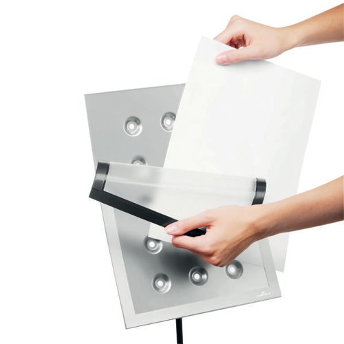 Durable Duraview Stand Silver A4 498123
