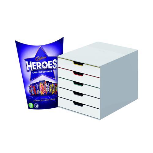 Durable Varicolor Mix 5 Drawer Unit FOC Heroes 185g DB810755