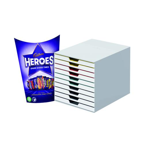 Durable Varicolor Mix 10 Drawer Unit FOC Heroes 185g DB810756