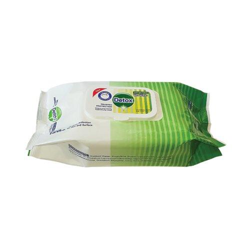 Detox Anti Bacterial Wipes Pine (Pack of 120) Detox 120 Pine