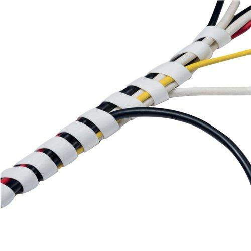 D-Line White Cable Tidy Wrap 2.5m