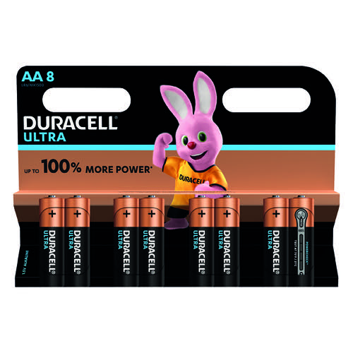 Duracell Ultra Power AA Batteries Pk8