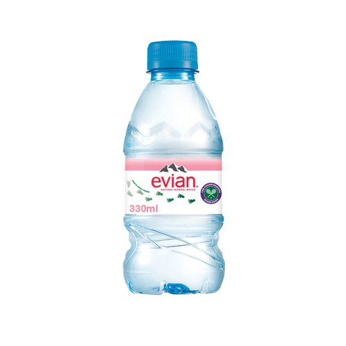 Evian Natural Spring Water 330ml (Pack of 24) A0106212