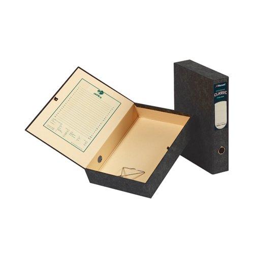 Acco Eastlight Classic Box File Lockspring Foolscap Black 30115EAST