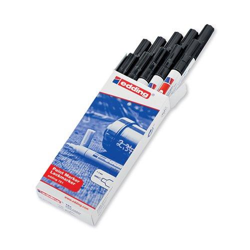 Edding 751 Bullet Tip Paint Marker Fine Black (Pack of 10) 4-751001