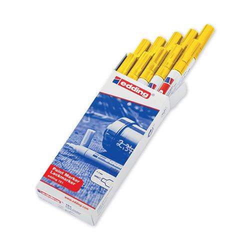 Edding 751 Bullet Tip Paint Marker Fine Yellow (Pack of 10) 751-005