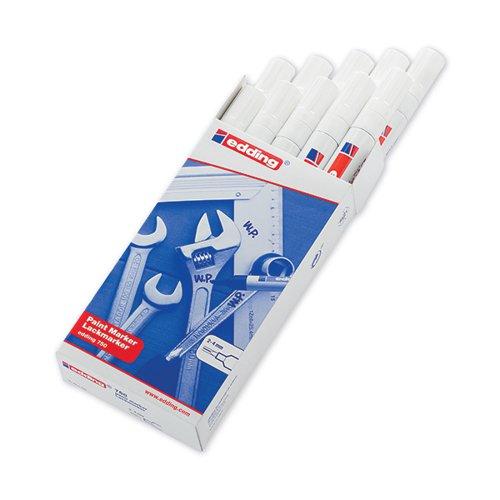 Edding 750 Paint Marker Bullet Tip 2-4mm White PK10