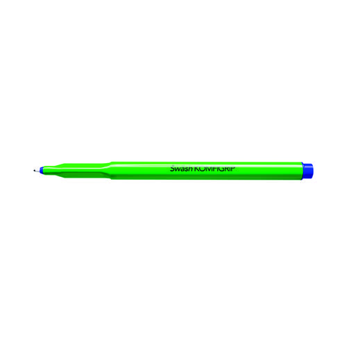 Swash KOMFIGRIP Handwriting Pen Blue (Pack of 12) THW12BU