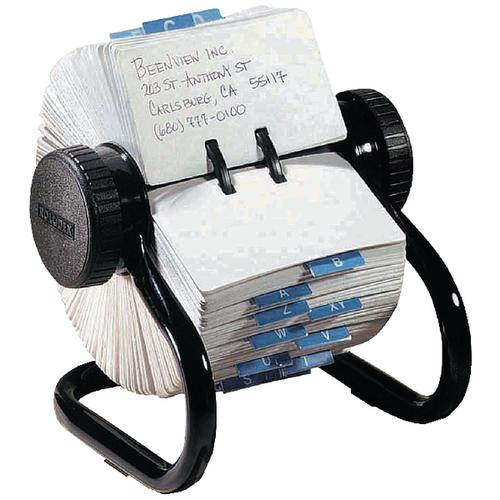 Rolodex Black 500 Rotary Open Card File