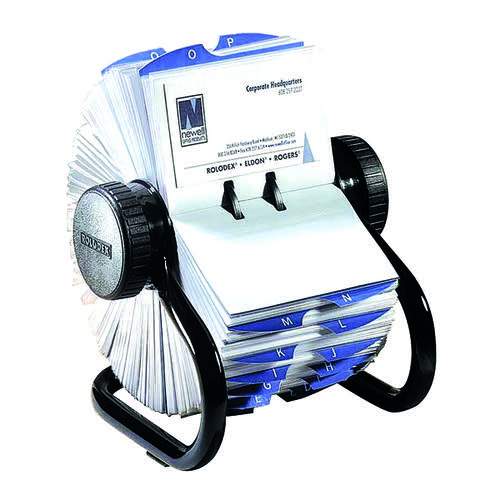 Rolodex Black 200-Slve Rotary Card File