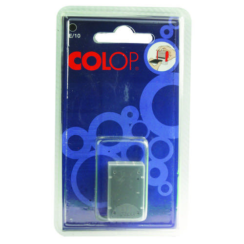 COLOP E/10 Replacement Ink Pad Black (Pack of 2) E10BK