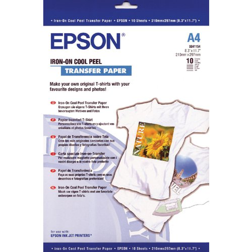 Epson Cool Peel Iron-On Transfer Paper Pk 10 S041154 C13S041154