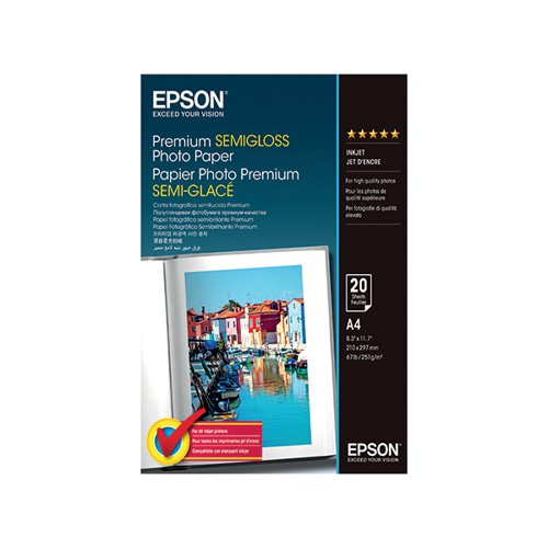 EPSON PREM SEMI-GLOSS A4 PHOTO PPR PK20