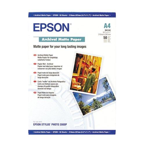 Epson C13S041342 Archival Matte Paper A4 50 Sheets