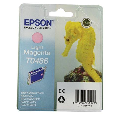 Epson T0486 Light Magenta Inkjet Cartridge C13T04864010