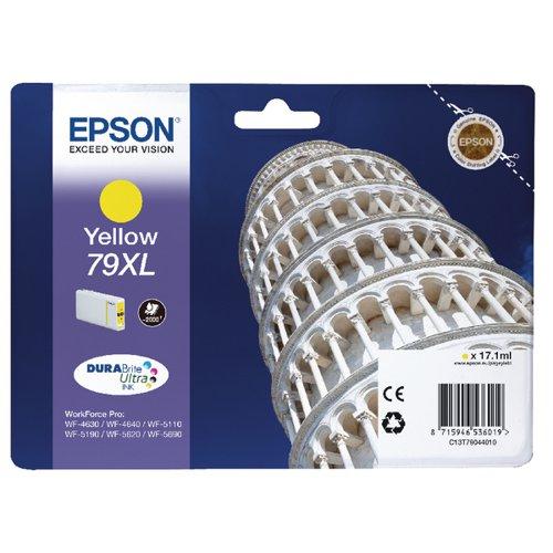Epson 79XL High Yield Yellow Inkjet Cartridge C13T79044010 / T7904