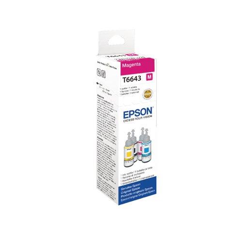 Epson T6643 Magenta 70ml Ink Bottle C13T664340 / T6643