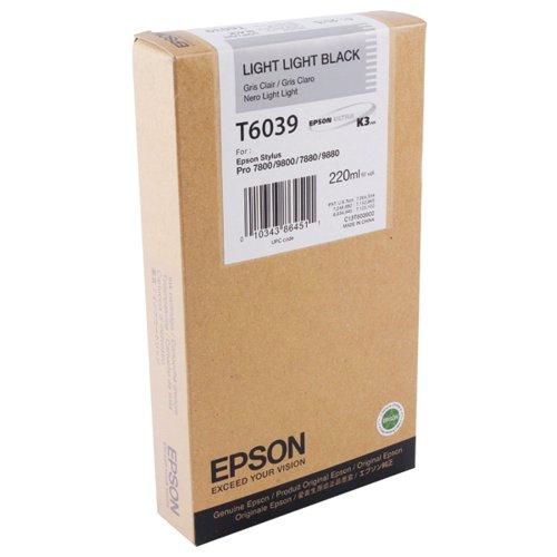 Epson C13T603900 T6039 Light Light Black Ink 220ml