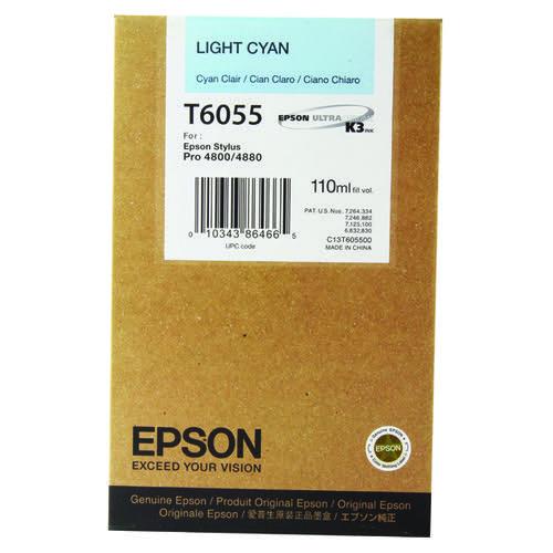 Epson Stylus Pro 4800/4880 Light Cyan Inkjet Cartridge C13T605500