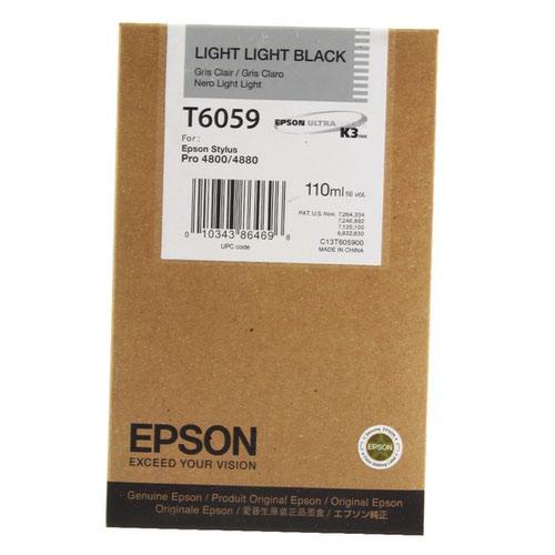 Epson T6059 Light Light Black Inkjet Cartridge For Stylus Pro 4800/4880 110ml C13T605900