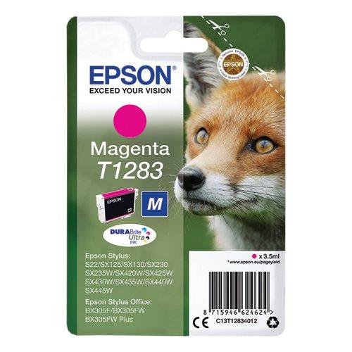 Epson T1283 Magenta Inkjet Cartridge (260 page capacity) C13T12834012