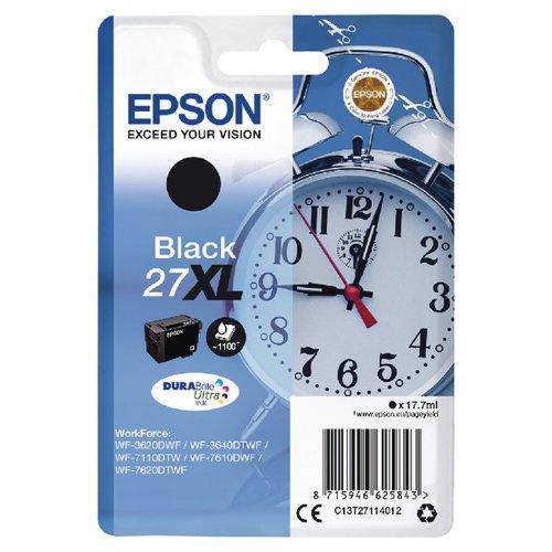 Epson 27XL Black Inkjet Cartridge C13T27114012