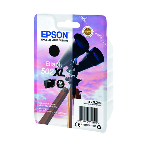 Epson Singlepack 502XL Ink Black C13T02W14010