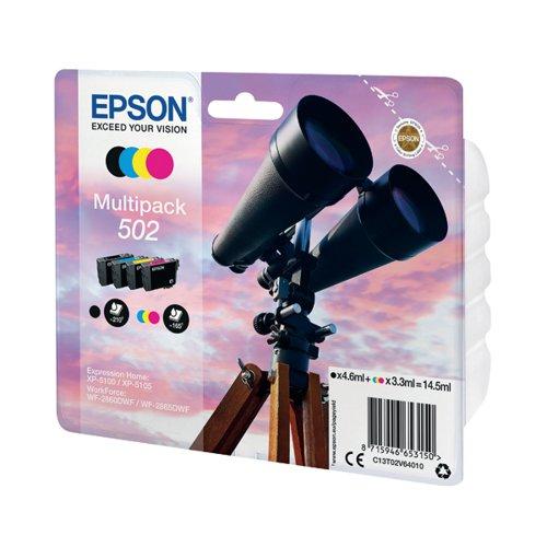 Epson C13T02V64010 502 Black Colour Ink 14.5ml Mutipack