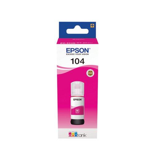 104 EcoTank Magenta Ink Bottle C13T00P340