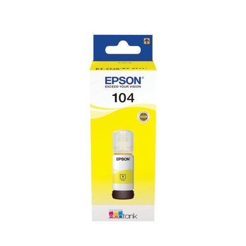 104 EcoTank Yellow Ink Bottle C13T00P440