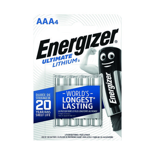 Energizer Ulti Lithium AAA Battery Pk4