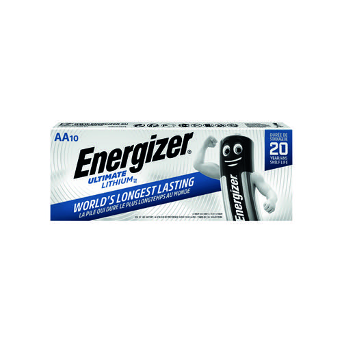 Energizer Ultimate Lithium AA Batteries (Pack of 10) 634352