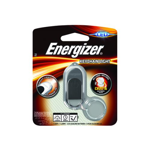 Energizer Keychain Lt.Torch CR2016 Silvr