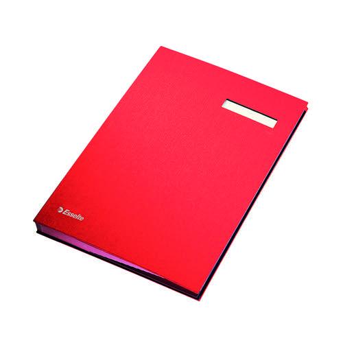 Esselte Signature Book 20 Part Red 621062