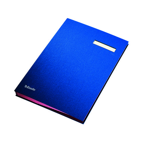 Esselte Signature Book 20 Part Blue 621063