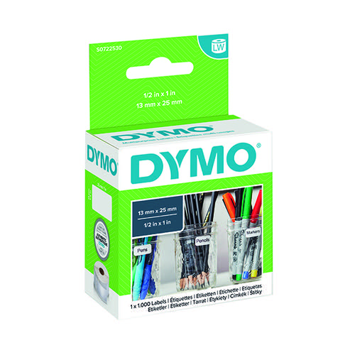 Dymo Label Writer Multi-Purpose Label 12x24mm S0722530 Pack