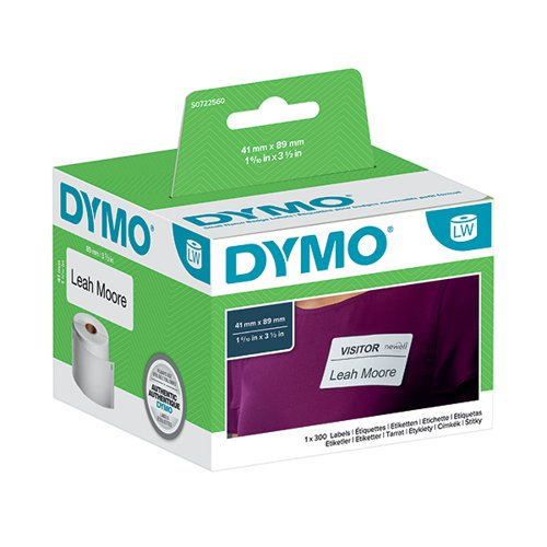 Dymo 11356 Namebadge Labels 89 x 41mm (Pack of 300) S0722560