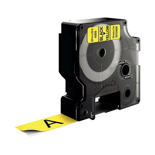 Dymo D1 Tape 19mm Black on Yellow